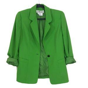 Carlisle retro boxy fit wool kelly green blazer